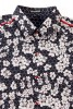 Baïsap - Black shirt with flowers - Alveole - Black and white shirt for men - #2744