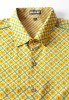 Baïsap - Flower shirt men - Narcissus - Light cotton shirt, slim fit - #2160