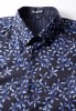 Baïsap - Blue floral dress shirt - Forget-Me-Not - Light cotton shirt, tailored fit - #2375