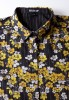 Baïsap - Yellow floral blouse - Black printed blouse for women - #2457